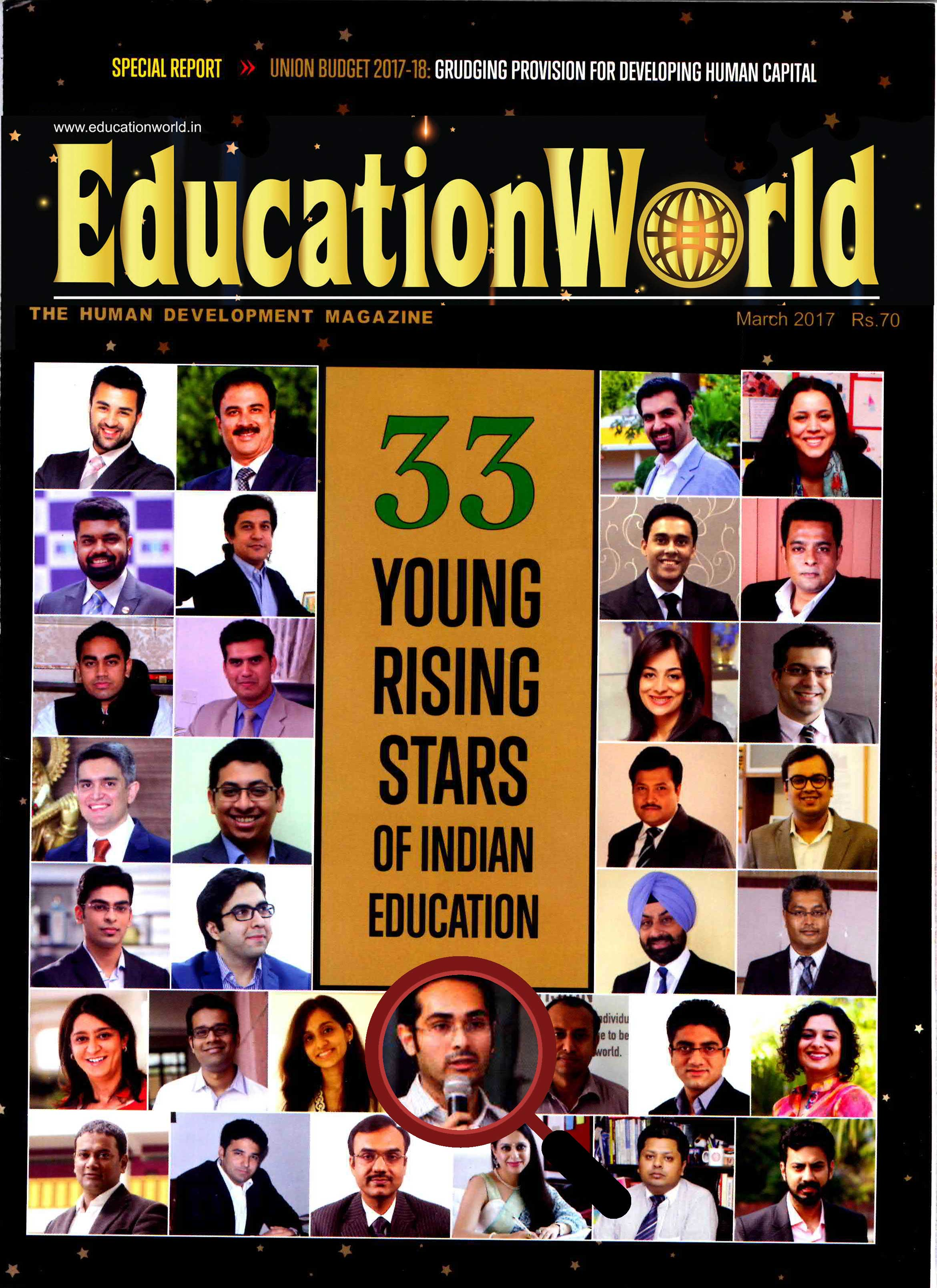 educationworldmagazinecover jbcn international school
