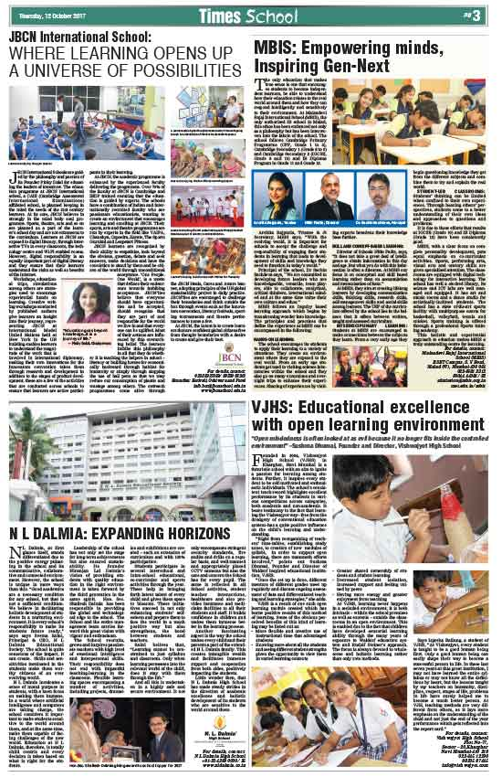 Times School Survey's - JBCN School, Borivali ranked No.6 in Mumbai