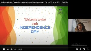 virtual independence day and investiture ceremony 1