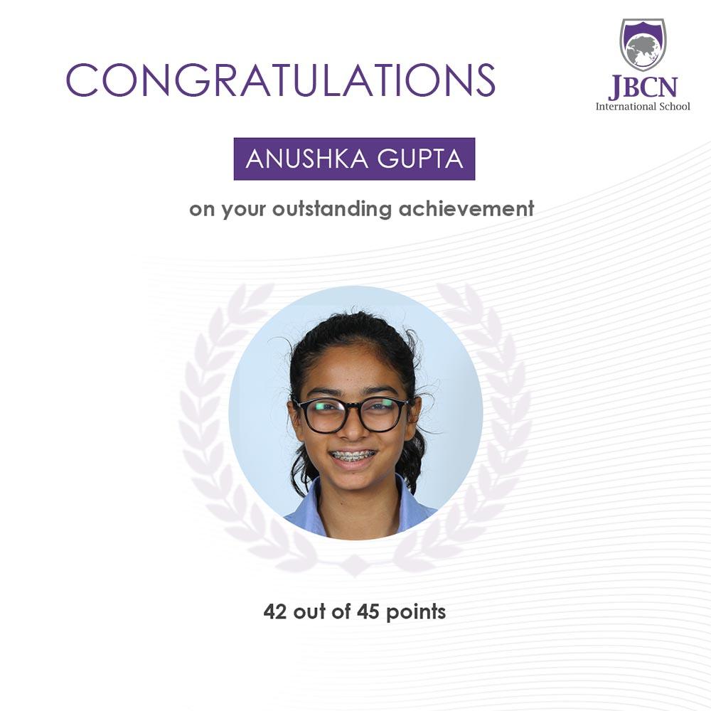 JBCN International School Oshiwara IBDP result 2020 2021 Anushka Gupta
